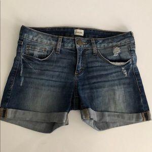 Denim Cuffed Shorts - Low Rise